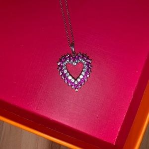 REAL RUBY & WHITE SAPPHIRE NECKLACE